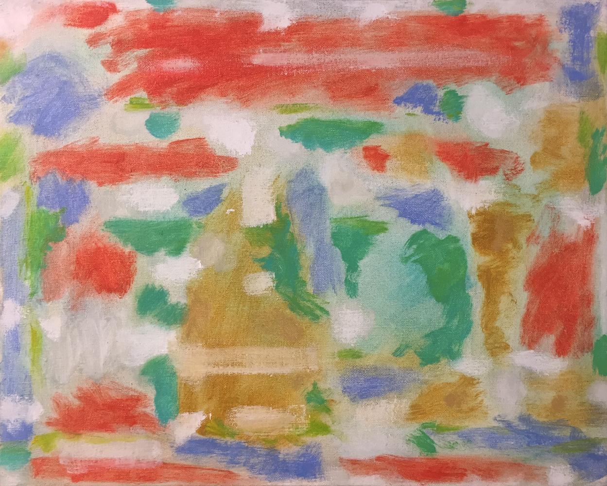 Robert C. Jones, Stimpson Island, 1969, oil on canvas, 16 x 20 inches, $4000.
