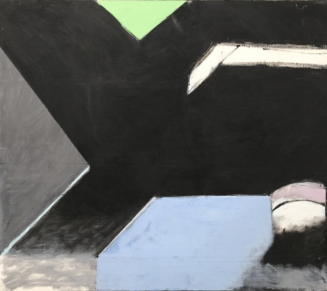 Robert C. Jones, Untitled 1972, oil on canvas, 48.75 x 42.5 inches, $10,000.