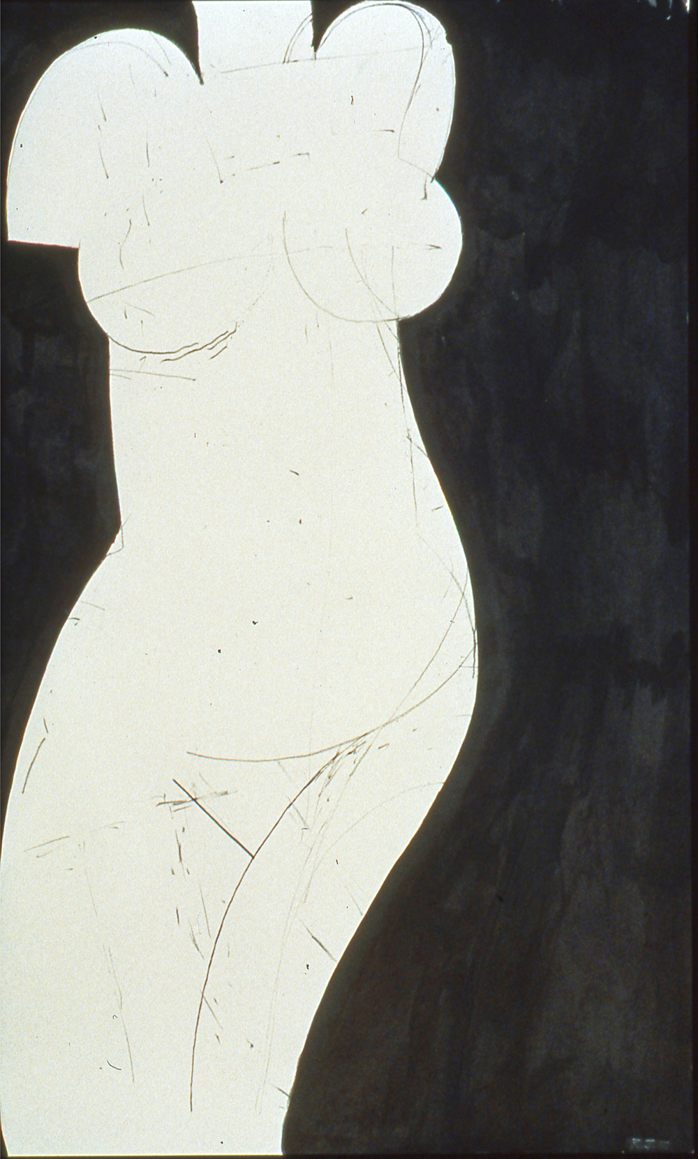 Robert C. Jones, Untitled, 1997, charcoal on paper, 29 x 22 inches, framed, $3000.