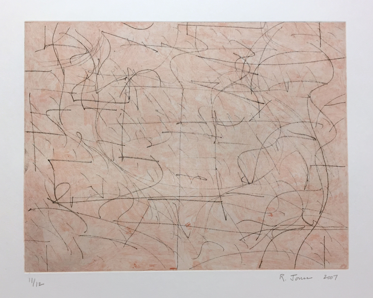 Robert C. Jones, Untitled, 2007, etching, paper size: 18.75 x 19.75 inches, print size: 7.75 x 10.25 inches, edition of 12, printed by Beta Press, $600.
