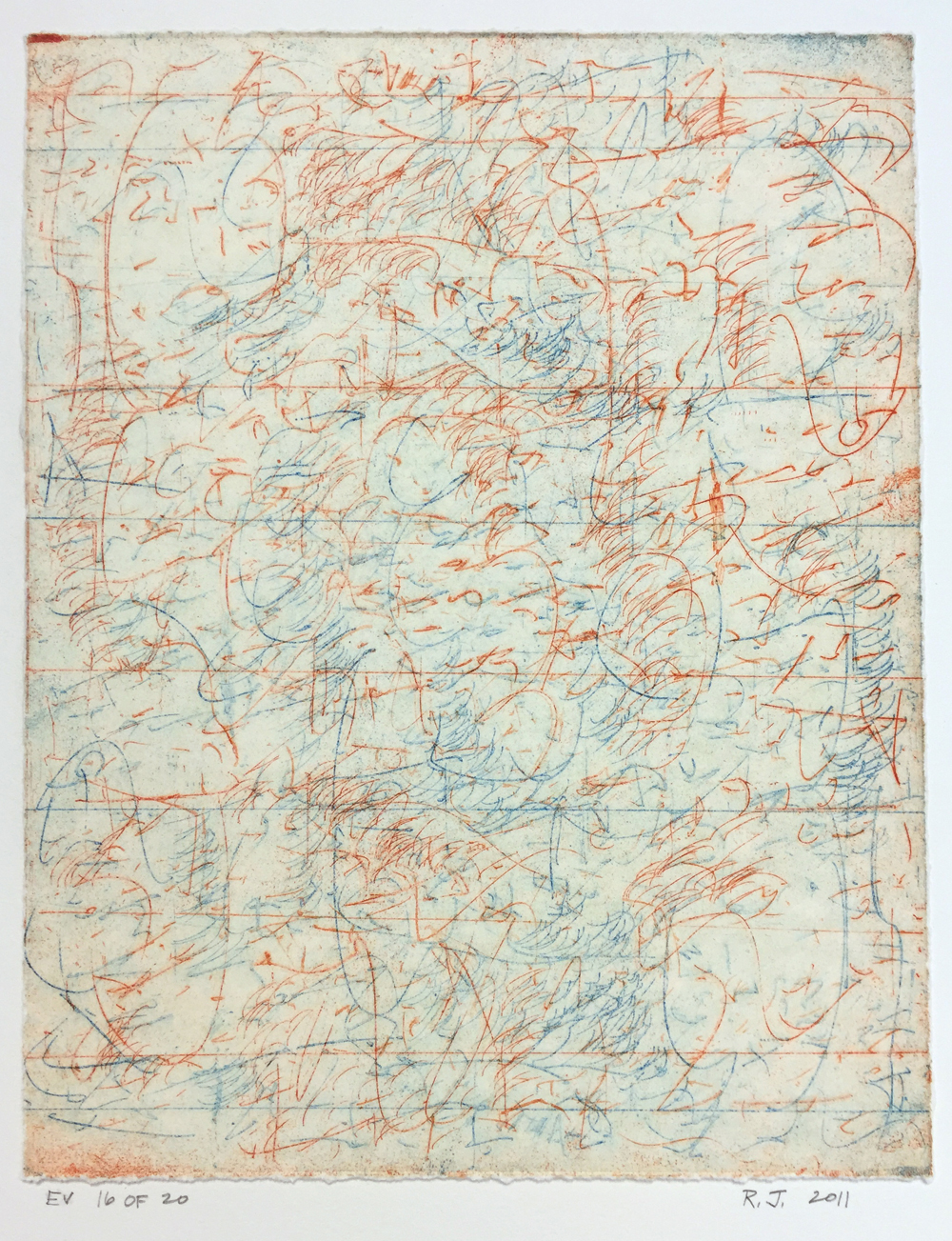 Robert C. Jones, EV, 2011, edition 16/20, etching, 10 x 7.75 inches, $600.