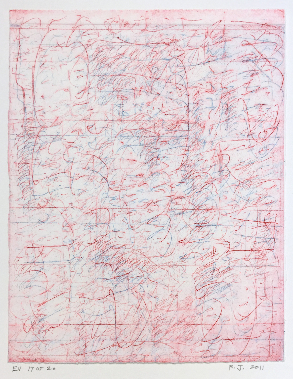 Robert C. Jones, EV, 2011, edition 17/20, etching, 10 x 7.75 inches, $600.