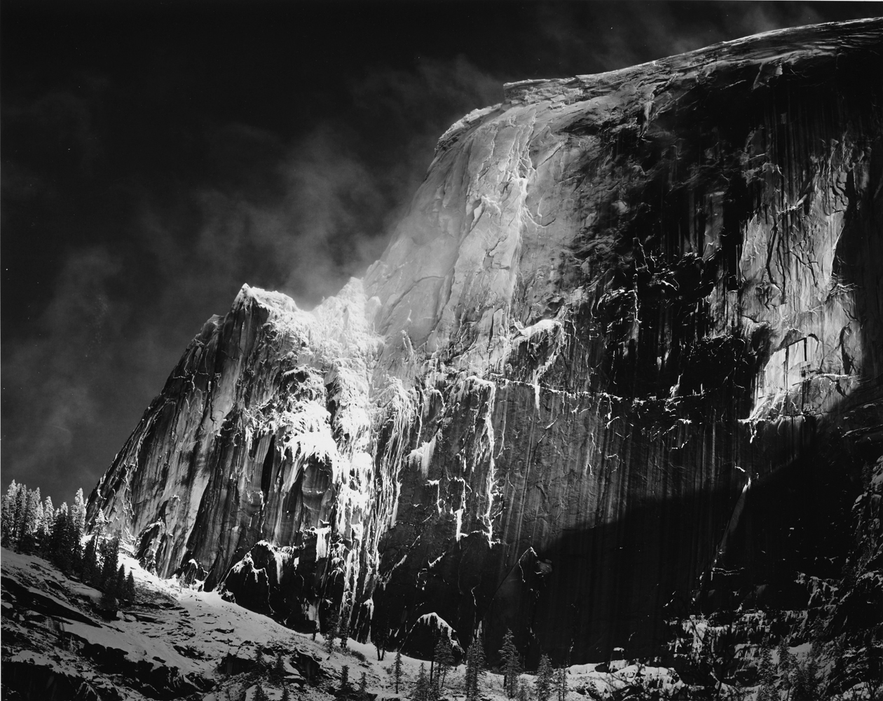 Ansel Adams - Half Dome Blowing Snow Yosemite National Park 1955