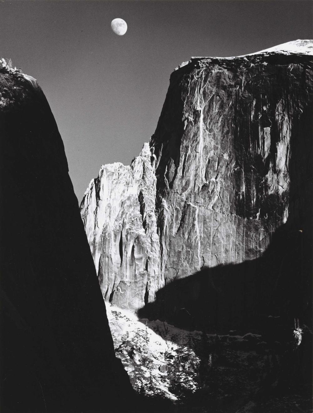 Ansel Adams, Moon and Half Dome, Yosemite National Park, CA, 1960