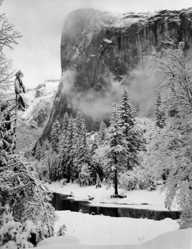 Ansel Adams, El Capitan, Winter, Yosemite National Park, c. 1952