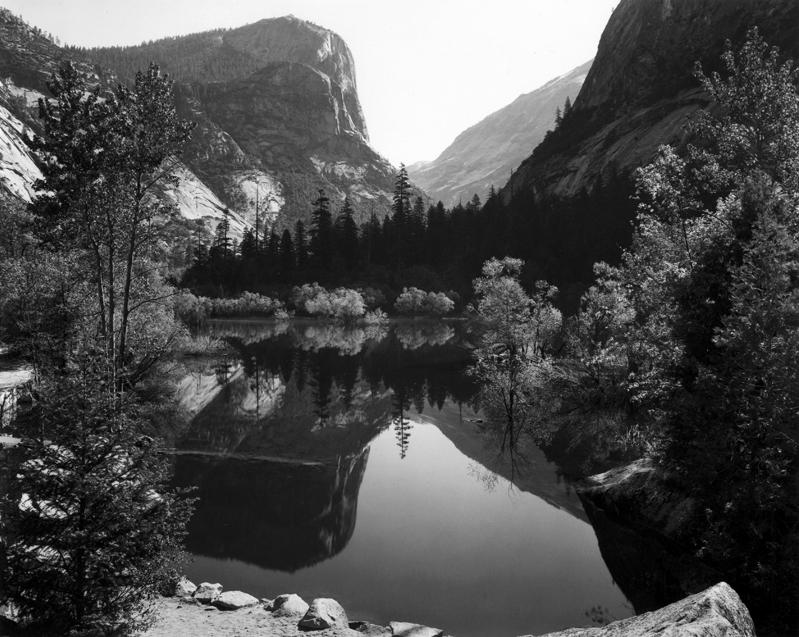 Ansel Adams, Mirror Lake, Mount Watkins, Yosemite National Park, c. 1937