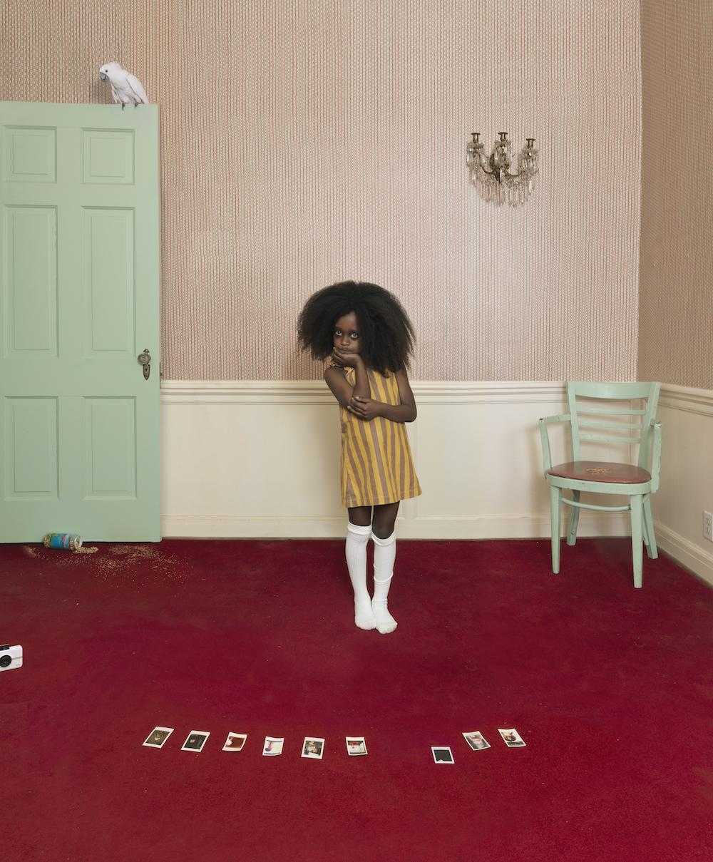 "Julie Blackmon, Ezra, 2019, archival pigment print, 30.5 x 26"", 42.25 x 35.75"", 52.3 x 44"" editions of 10, 7, 5, price on request"