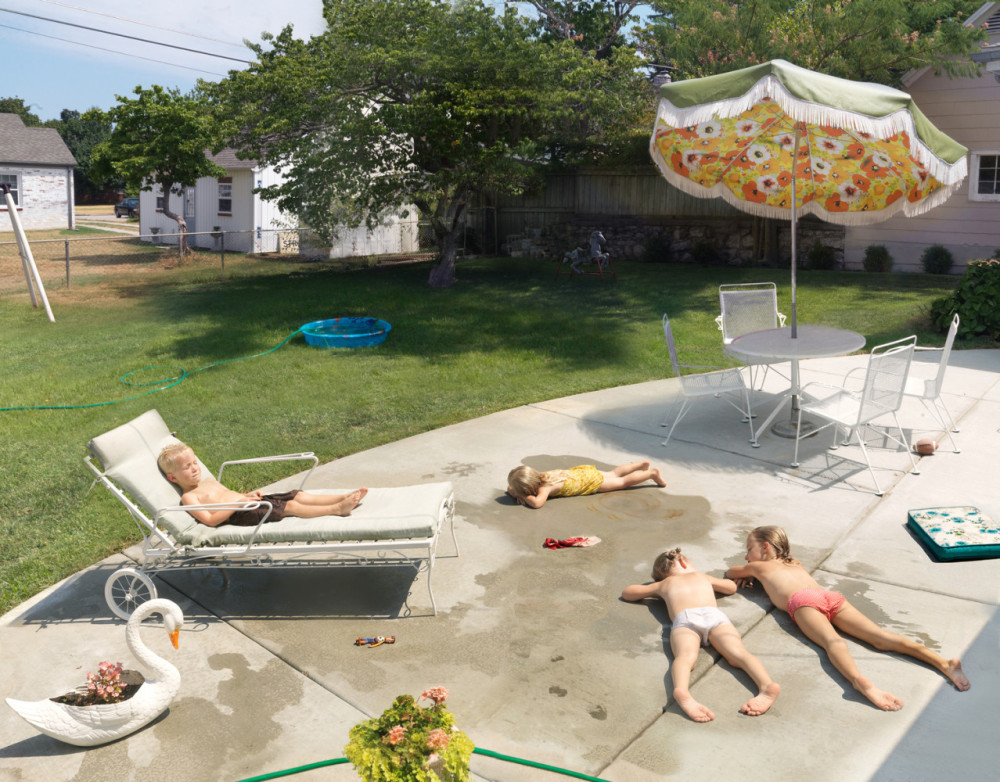 Julie Blackmon, Laying Out, 2015, 24×31″, 36×46″, 44×57″, edition of 10, 7, 5, price on request