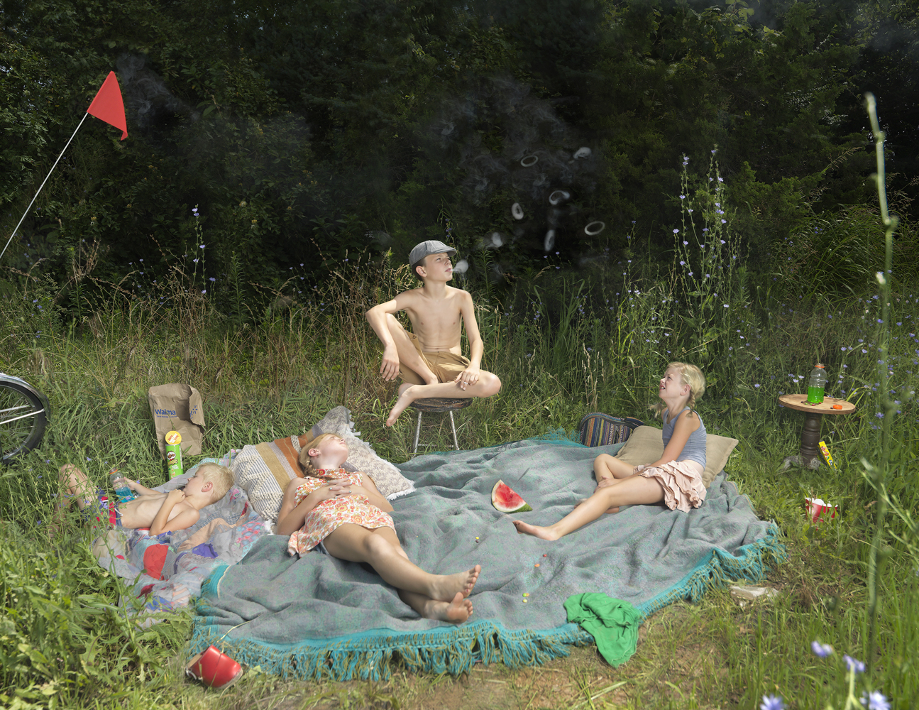 Julie Blackmon, Weeds, 2017, 22×30″, 32×44″, 40×56″, editions of 10, 7, 5, price on request