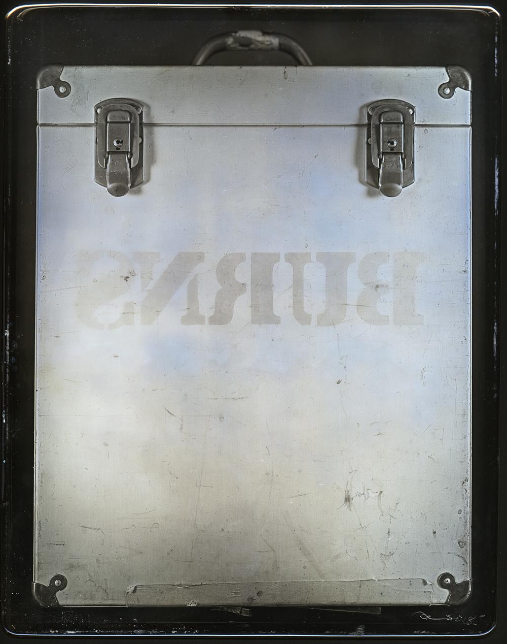 Daniel Carrillo, Burns Box, 2018, daguerreotype, 10 x 8 inches, $4000.