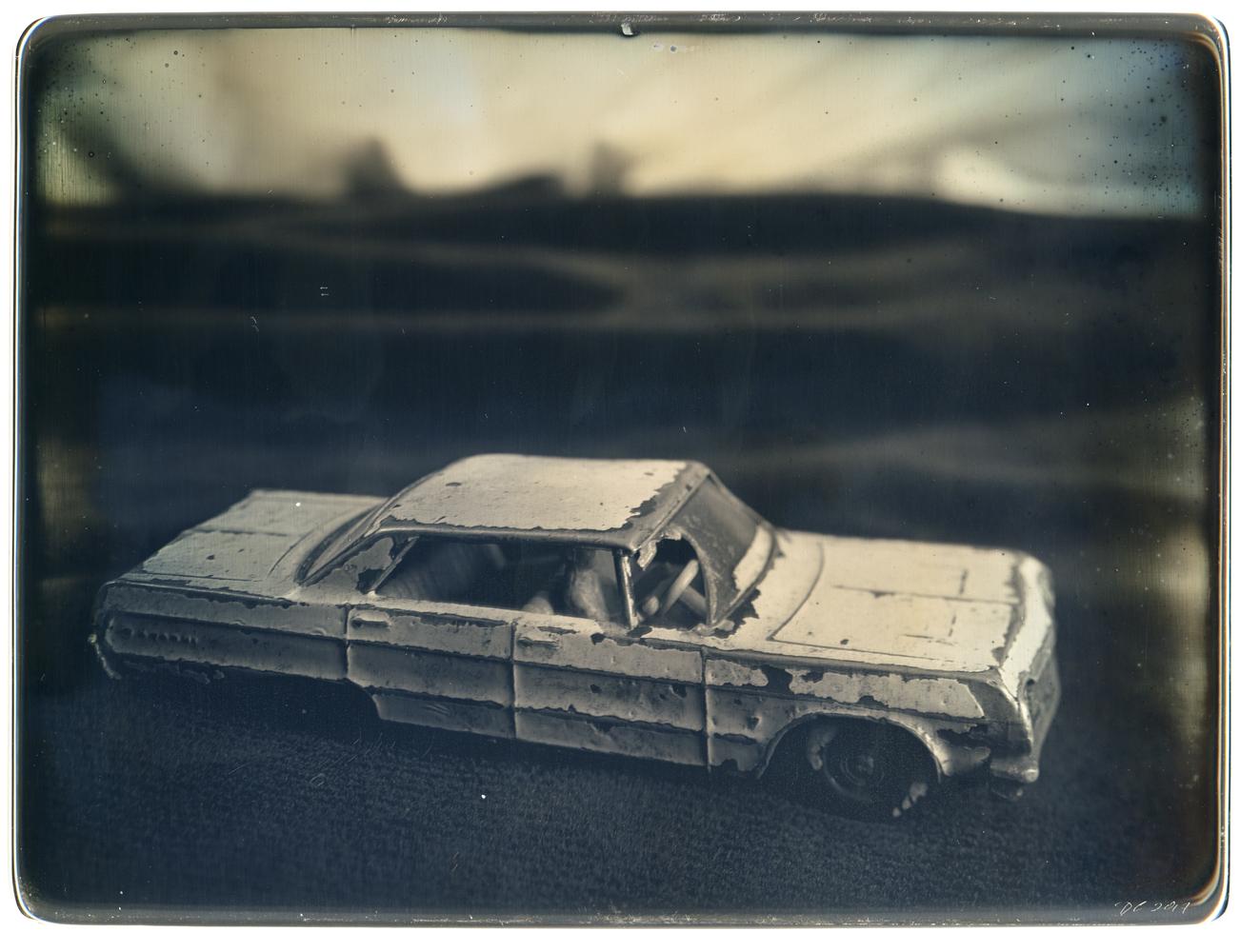 Daniel Carrillo, Vic Haven's 1965 Impala, 2017, daguerreotype, 6.5 x 8.5 inches, framed, $3000.