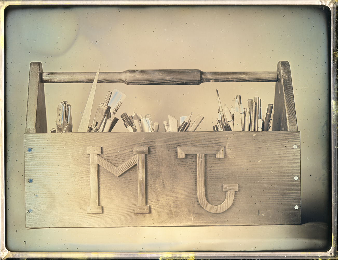 Daniel Carrillo, Jeffry Mitchell's Toolbox, 2017, daguerreotype, 6.5 x 8.5 inches, framed, $3000.