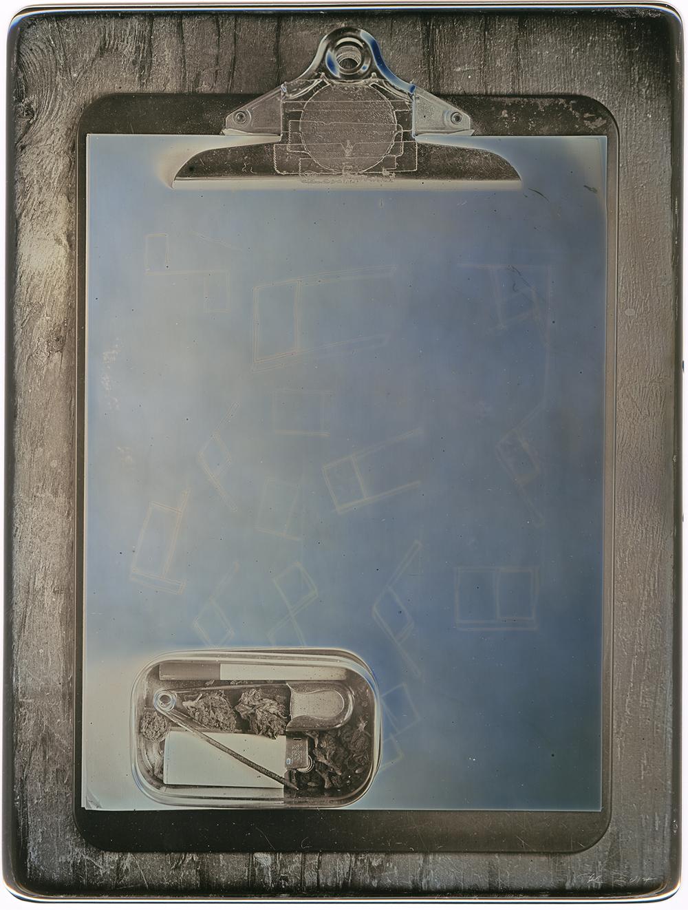 Daniel Carrillo, John Radtke's Portable Studio, 2017, daguerreotype, 8.5 x 6.5 inches, framed, $3000.