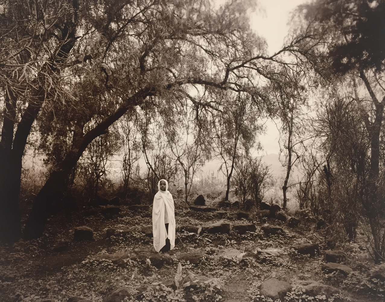 Linda Connor, Girl after Mass, Ethiopia, 2006, gold toned print, 8 x 10 inches