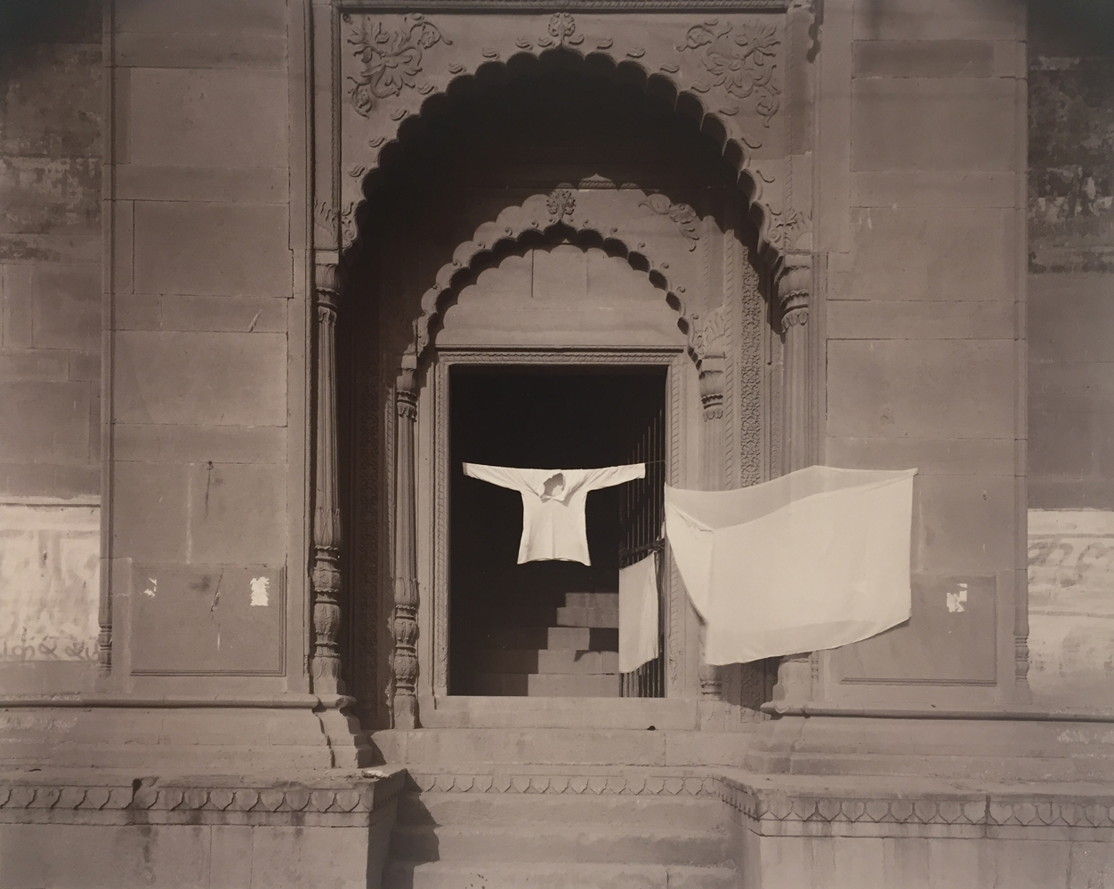 Linda Connor, Shirt, Banaras, India, 1979, gold toned print, 8 x 10 inches