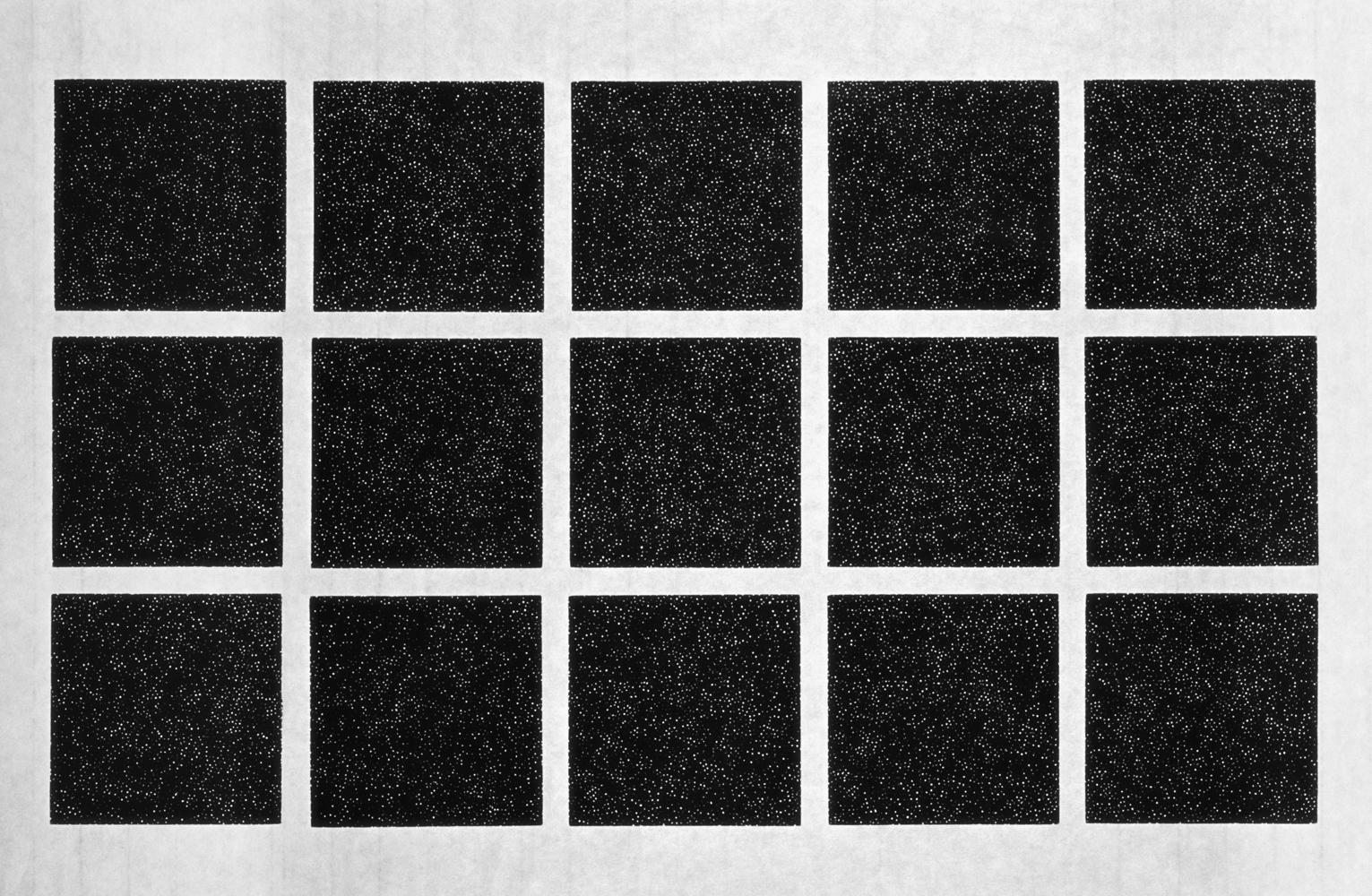 Linda Davidson, Stars, 2005, woodblock, 18 x 32 inches, framed, $1600.