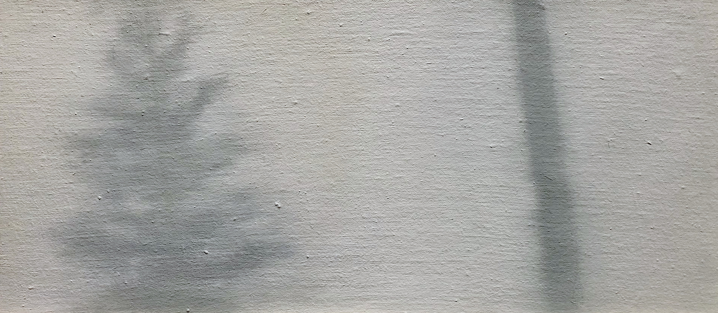 Linda Davidson, World's End #1, 2019, oil on cotton on panel, 10 x 22 inches, $850.