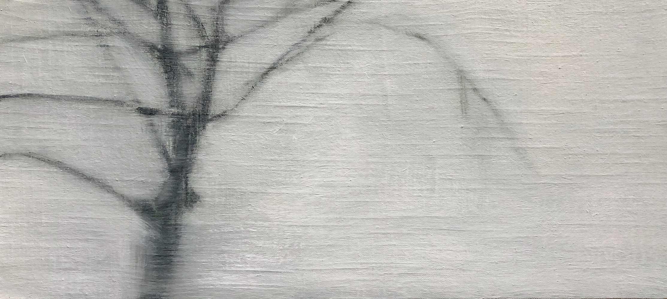 Linda Davidson, World's End #6, 2019, oil on cotton on panel, 10 x 22 inches, $850.