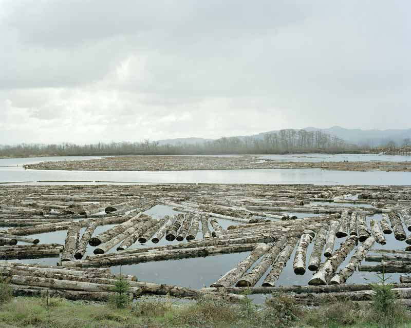 Eirik Johnson, Logs in the Coquille River, Oregon, 2006