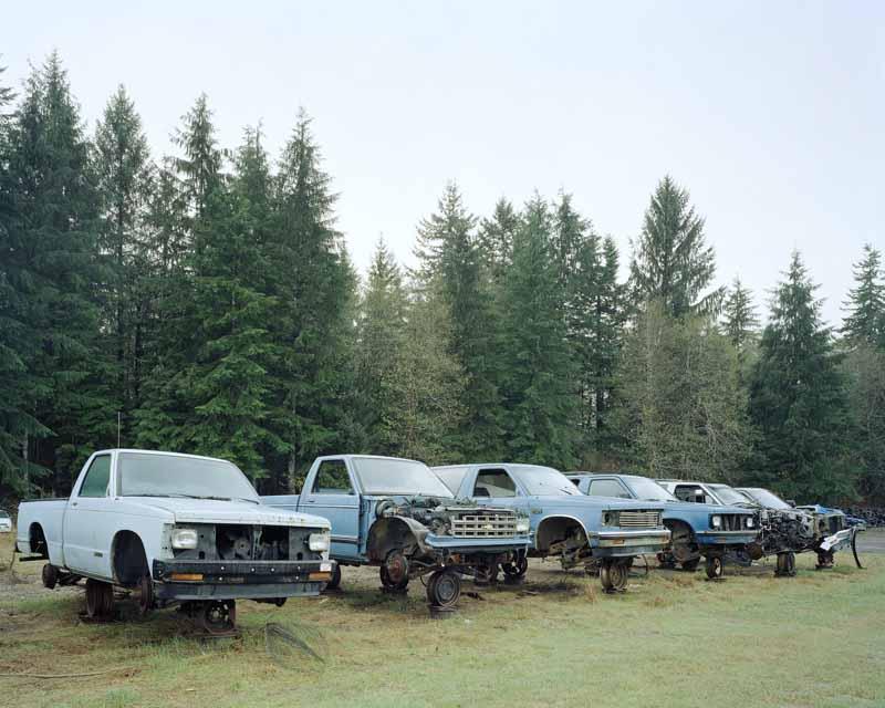 Eirik Johnson, Junked blue trucks, Forks, Washington, 2007