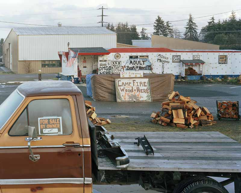 Eirik Johnson, Adult books, firewood and truck for sale, Port Angeles, Washington, 2008