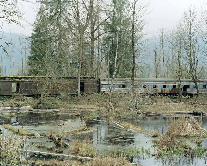 Eirik Johnson, Scrapped train, Arlington, Washington, 2006