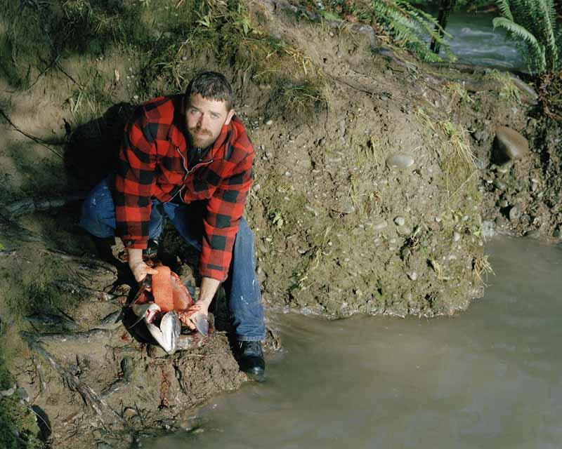 Eirik Johnson, Josh cleaning a Chinook along the Sol Duc River, Washington, 2006