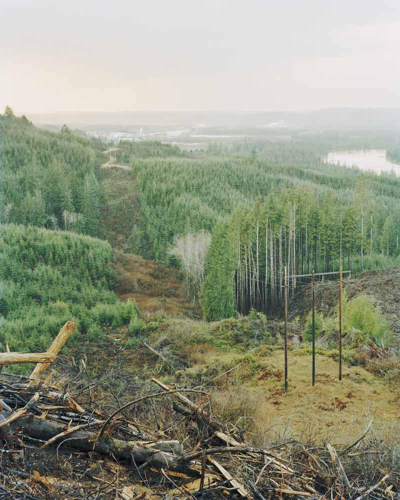 Eirik Johnson, Powerlines above Cosmopolis, Washington, 2007