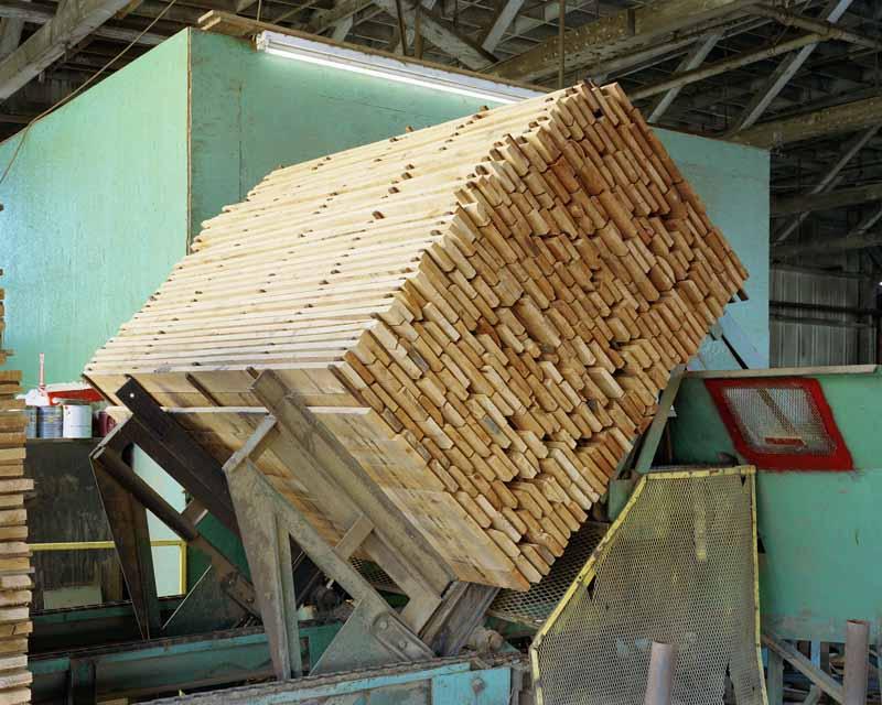 Eirik Johnson, Stacked alder boards, Seaport Lumber Planer, South Bend, Washington, 2007