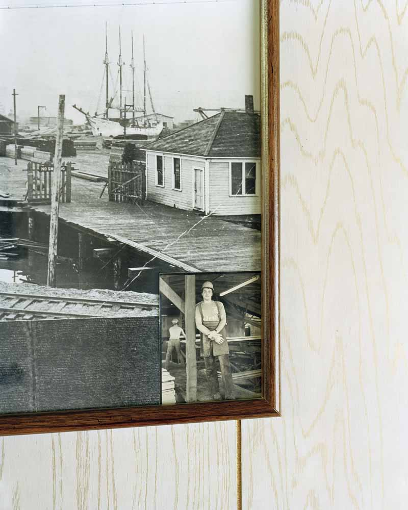 Eirik Johnson, Old photographs, Seaport Lumber, South Bend, Washington, 2007