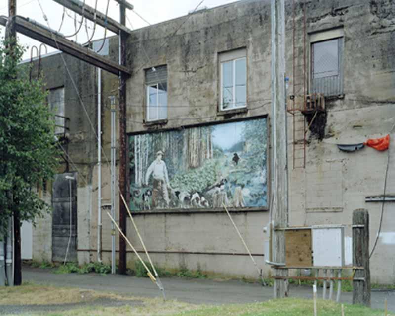 Eirik Johnson, Alley mural, Aberdeen, Washington, 2006