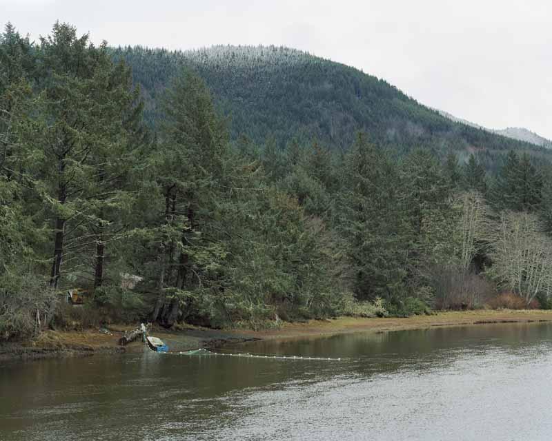Eirik Johnson, Makah tribal gill nets on the Sooes River outside Neah Bay, Washington, 2008