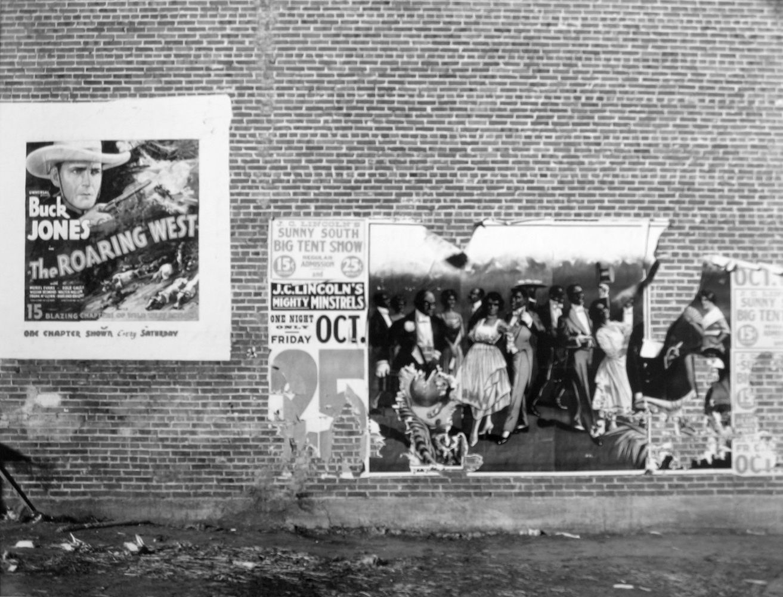 Walker Evans, Minstrel Showbill, Alabama, 1936, gelatin silver print, 8 x 10 inches