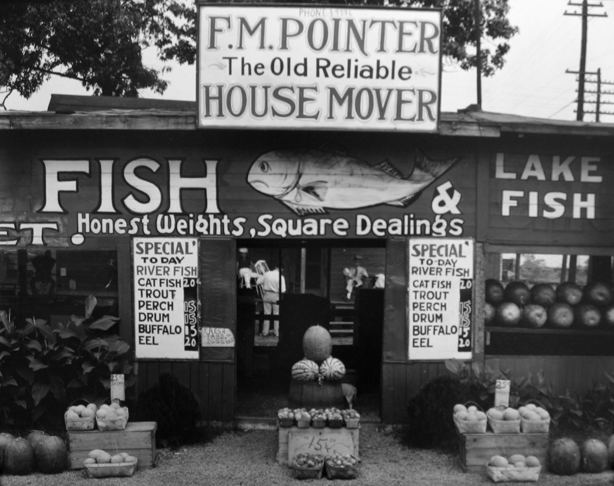 Walker Evans, Fish Market Near Birmingham, Ala., 1936, gelatin silver print, 8 x 10 inches