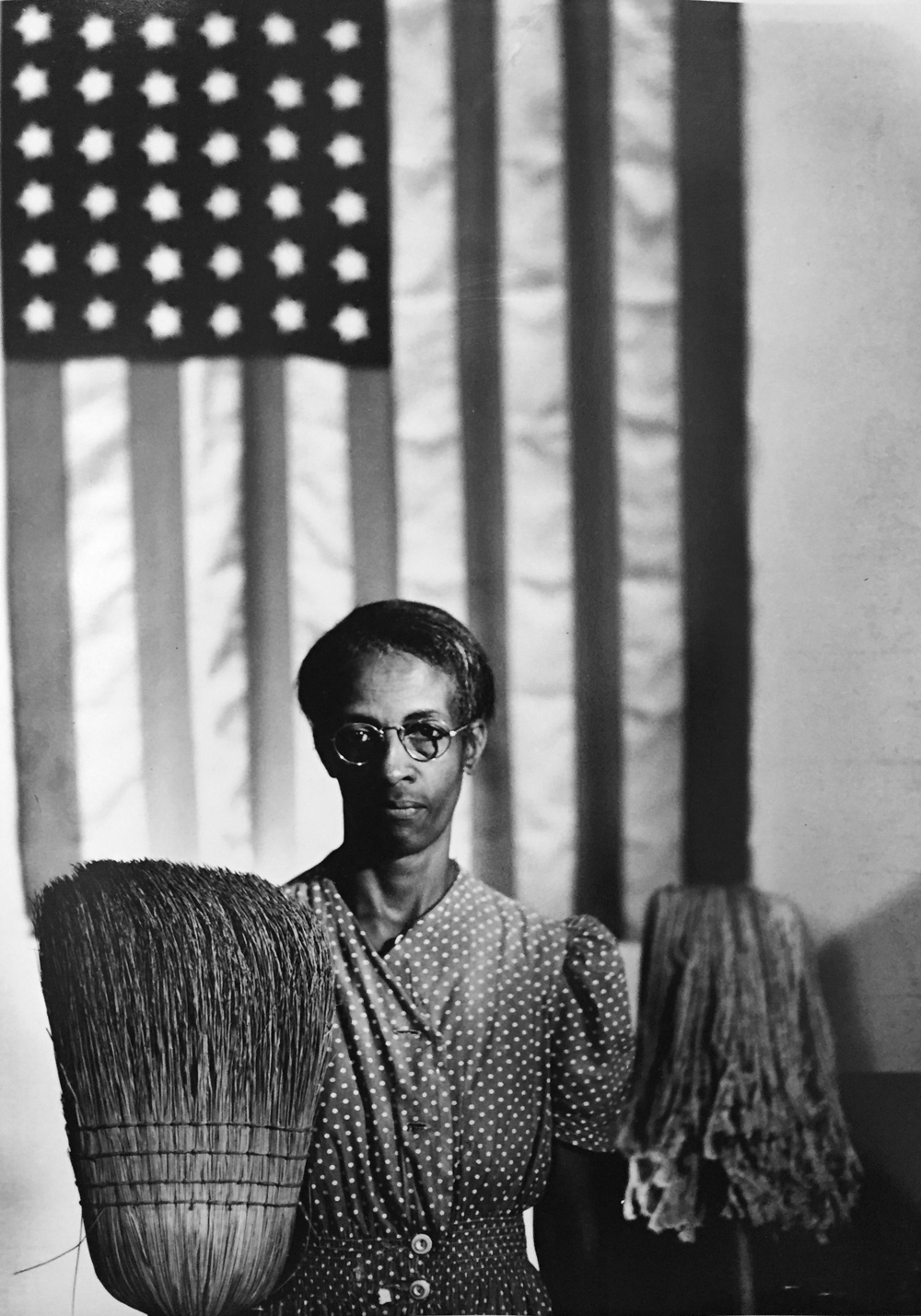 Gordon Parks, American Gothic, Ella Watson, Washington DC, 1942, gelatin silver print, 14 x 11 inches, signed by artist (SOLD)