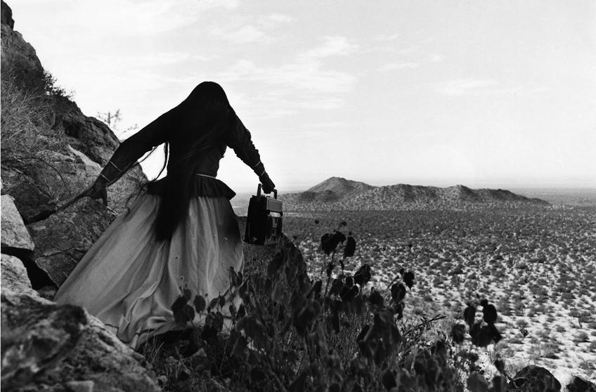 Graciela Iturbide, Mujer Angel, Desierto de Sonora, 1979, gelatin silver print, 16 x 20, signed (SOLD)