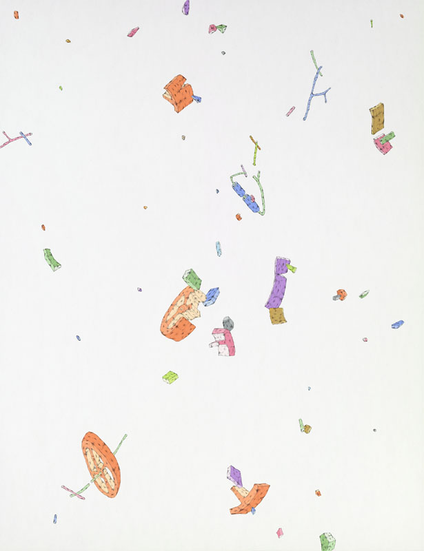 Blake Haygood, An Easy Fix, 2014, gouache and graphite on paper, 26 x 20 inches, $1000.