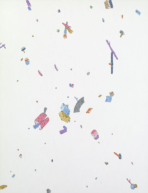 Blake Haygood, Everything Is Clear, 2014, gouache and graphite on paper, 26 x 20 inches, $1000.