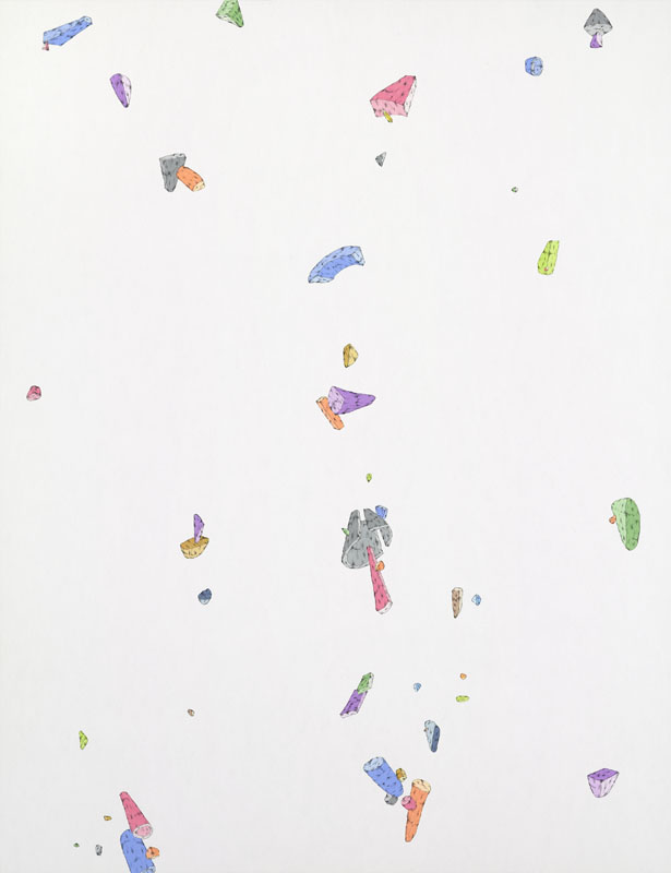 Blake Haygood, Just A Hint Of Noise In The System, 2014, gouache and graphite on paper, 26 x 20 inches, $1000.
