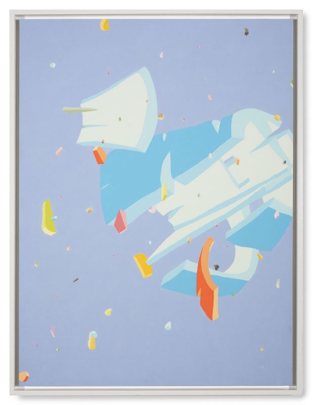 Blake Haygood, Take The Long View, 2013, acrylic on panel, 41.75 x 31.75 inches, framed, (On Hold)