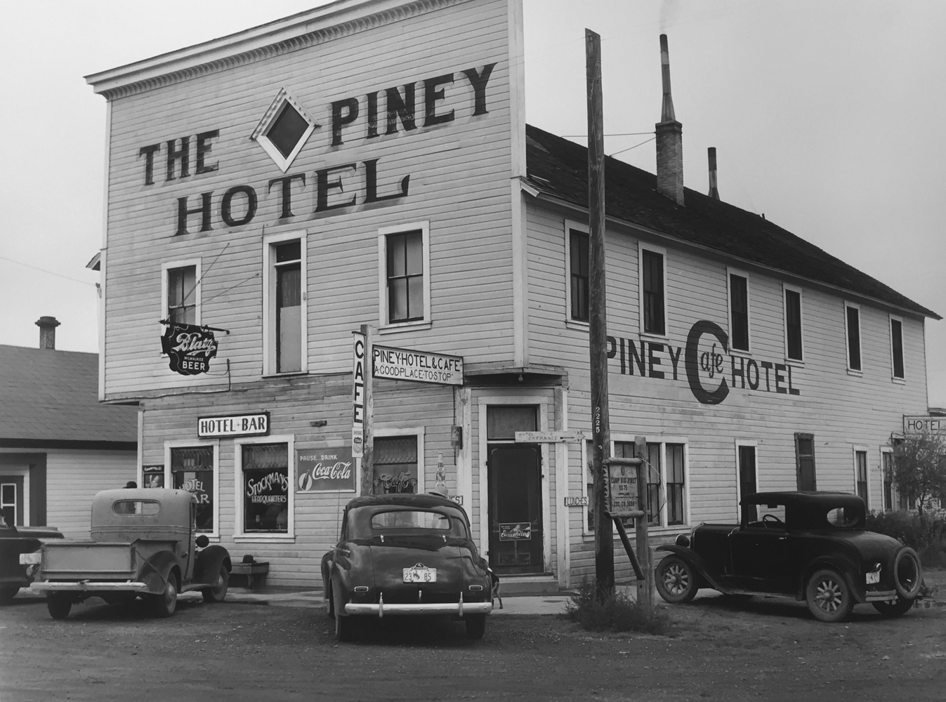 Marion Post Wolcott, Hotel in Big Piney, Wyoming, 1941, gelatin silver print, 11 x 14 inches, price on request