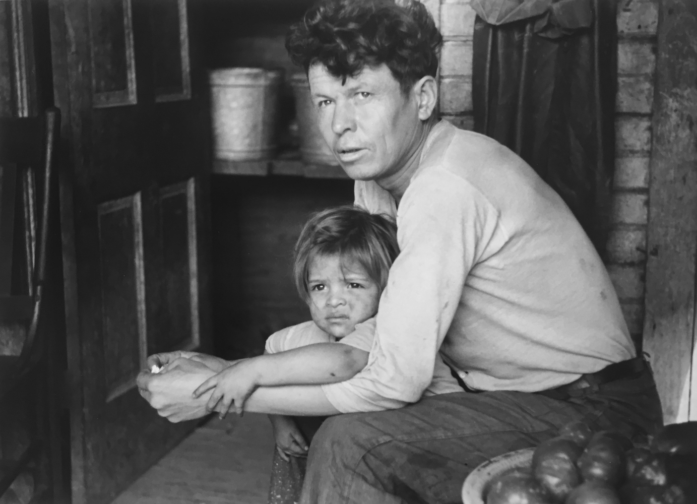 Marion Post Wolcott, Mexican miner and child, Bertha Holl, Scott's Run, West Virginia, 1938, gelatin silver print, 11 x 14 inches, price on request