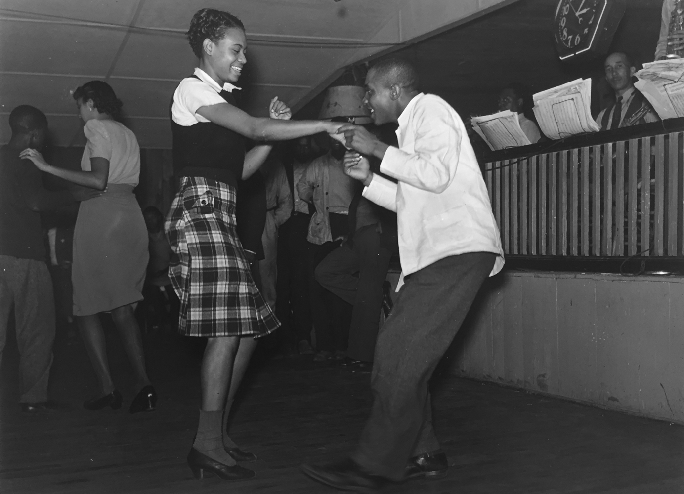 Marion Post Wolcott, Couple Jitterbugging in juke joint, Memphis, Tennessee, 1939, gelatin silver print, 11 x 14 inches, signed by artist, $3000.