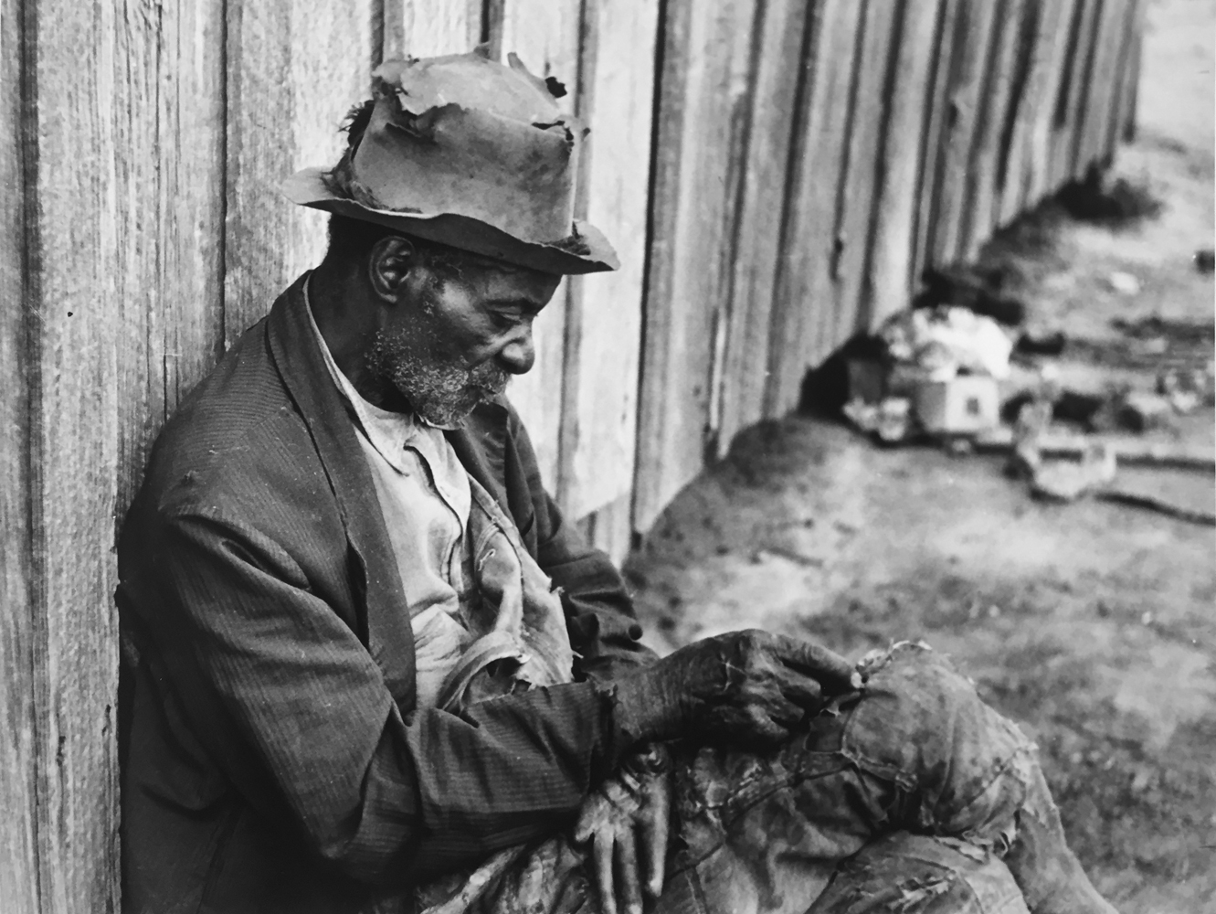 Marion Post Wolcott, The Whittler, an old man (ex-slave) Camden, Alabama, 1939, gelatin silver print, 11 x 14 inches, $4000.