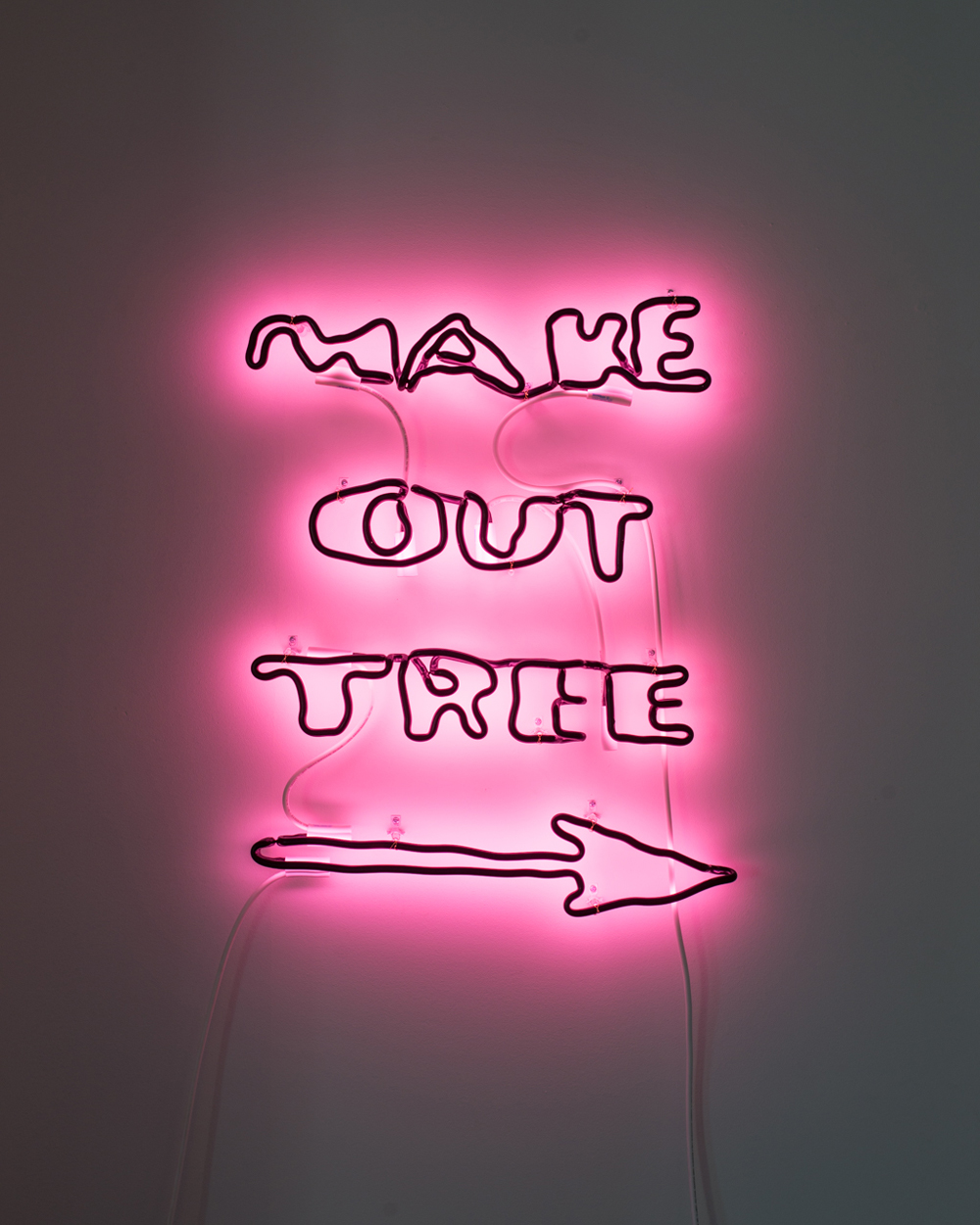 Eirik Johnson, MAKE OUT TREE, 2018, neon glass, 28 x 24 inches, edition of 3, $8000.