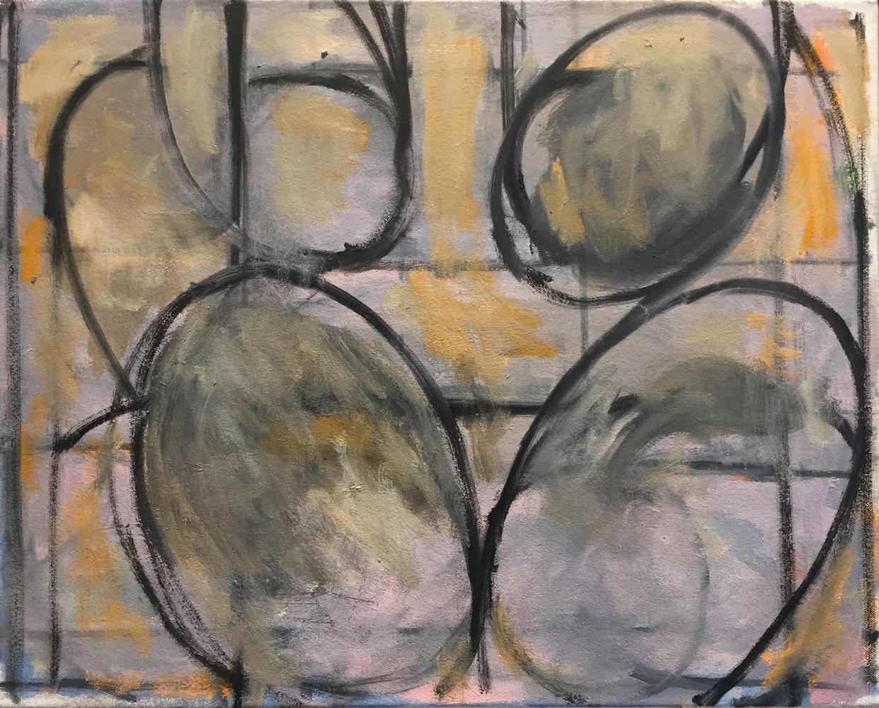 Robert C. Jones, Loop, 2016, oil on canvas, 16 x 20 inches, $4000.