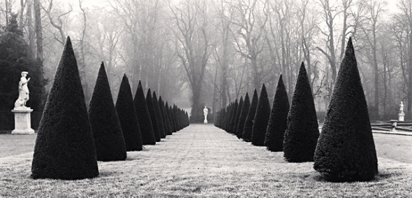 Michael Kenna, Avenue of Three Fountains, Versailles, France, 1996