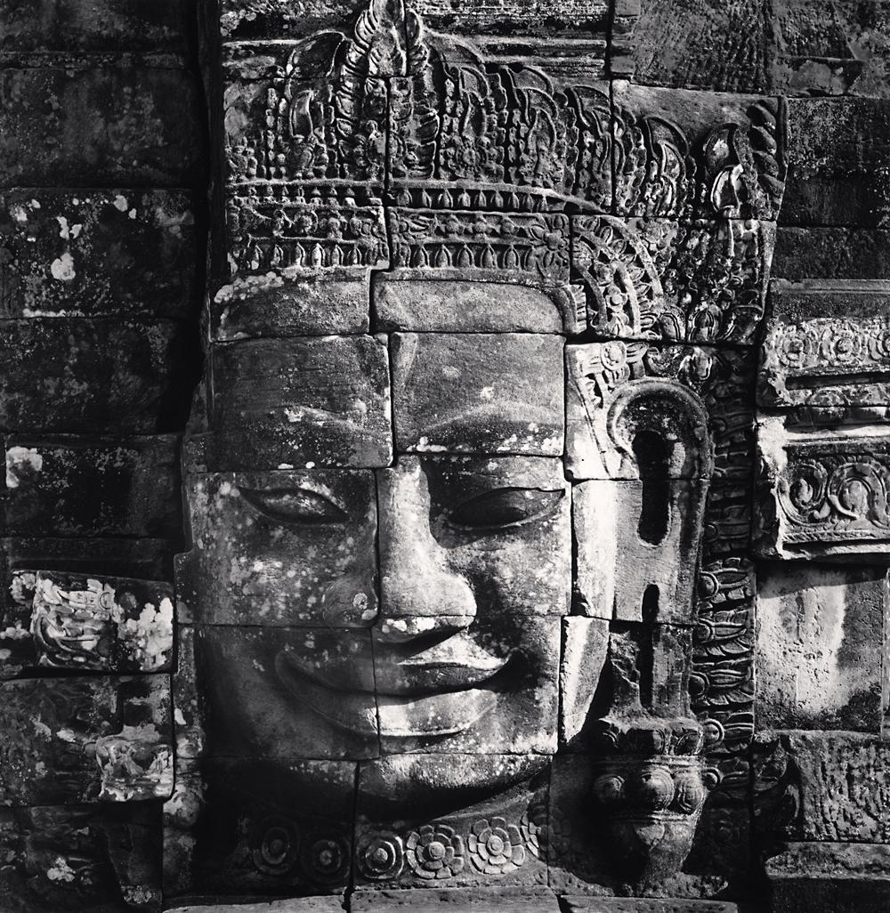 Michael Kenna, Bayon Temple Head, Angkor, Cambodia, 2018