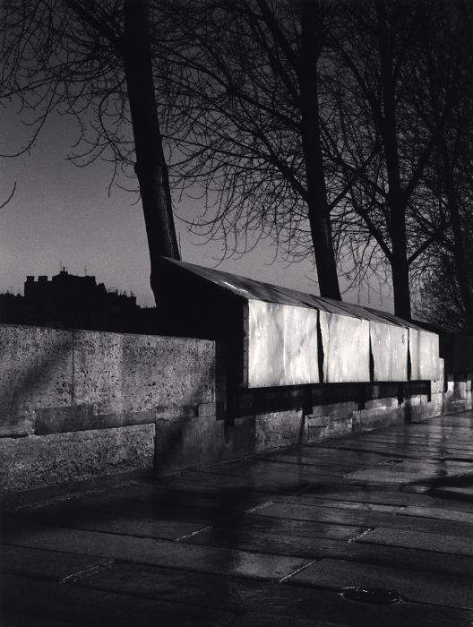 Michael Kenna, Bookstalls, Paris, France, 1988, gelatin silver print, 9 x 6.5 inches