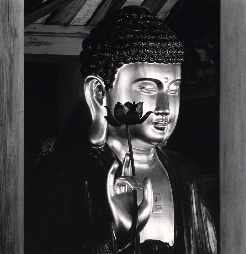 Michael Kenna, Buddha and Lotus Flower, But Thap Pagoda, Hanoi, Vietnam, 2019